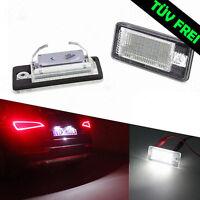 LED Kennzeichenbeleuchtung Audi A3 8P A4 B6 B7 A6 4G C6 A8 4E 4H Q7 4L TÜV FREI