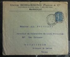 1908 Marseille France Commercial Cover To St Hyacinthe Canada