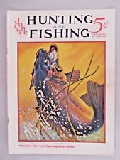 Hunting and Fishing Magazine - June, 1931 - COVER ONLY ~~ Winchester ad, bass