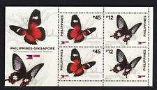 2019 Philippines-Singapore Diplomatic Relation, Insects, Butterfly S/S Mint NH