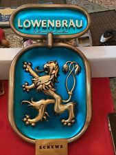 "LOWENBRAU Beer Sign Vintage Advertisement 1950's#41-2195 EXCELLENT COND20""x11.5"""