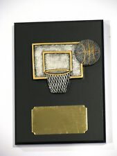 Basketball  Figurine Trophy / Wooden Plaque 105x144mm  Engraved FREE