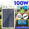 100W Solarpanel Solarmodul Sonnenkollektor 10-80A Controller für Boat Wohnmobil