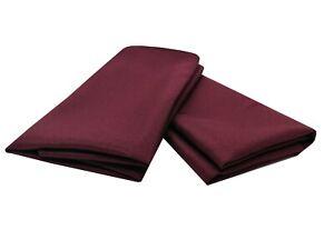 Plain Polyester NAPKINS Wedding Table Cloth Linen Dinner Soft Fabric Metal Rings