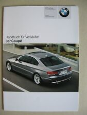 Vendedor MANUAL BMW Serie 3 Coupé E92 320i 325i 330i D xi xd 335i MJ 2006 2007