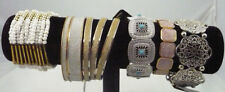 NWT lot 6 bangle & stretch bracelets gold, silver & beads RRP $49.00  gifts