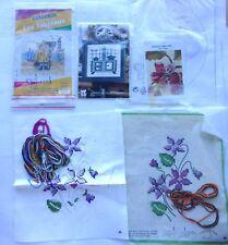 ► kits à broder/ napperons/tableaux/neufs et à finir/ 4 pieces