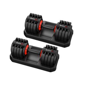 Sporteq Premium Pair of Adjustable Twistlock Dumbbells Choice Of 3-25 & 4-32 KG