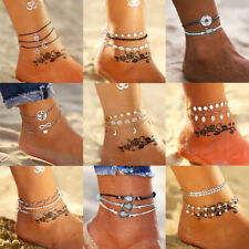 Women Natural Cowrie Beads Shell Anklet Bracelet Handmade Beach Foot Jewelry