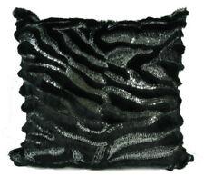 Cojines decorativos negros sin marca de piel para el hogar
