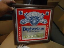 New listing Beautiful Rare Budweiser Clydesdale Beer Light Sign Great Condition Antique