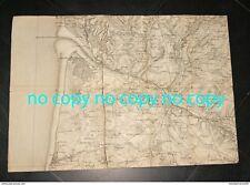 originale ancienne carte Pas de Calais, militaria BOULOGNE LE TOUQUET BERCK MON