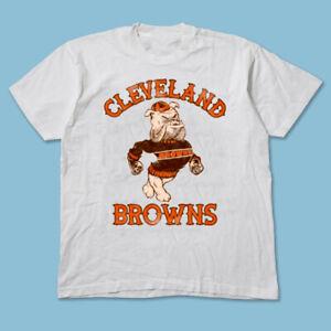 Retro Distressed Cleveland Browns T-Shirt White Unisex Cotton Vintage TK4257