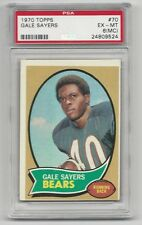 Gale Sayers 1970 Topps Card # 70,  PSA - EX / MT - 6 (MC) . Chicago Bears
