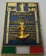 "SPILLA "" CONGEDANTE MARINA MILITARE ITALIANA "" VINTAGE  S-O-3"