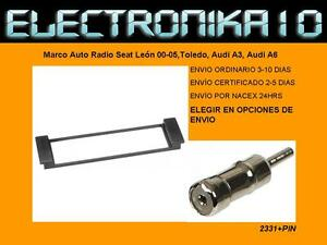 Soporte Marco de Montaje para Radio 1DIN Seat Toledo, Leon, Audi A-3 +ISO ANT