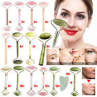 Jade Face Massage Roller Facial Massager Beauty Tool Body Eye Neck Hand Massager