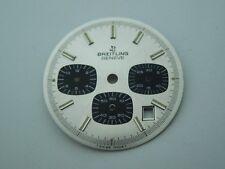 "Original NOS Vintage Breitling ""Silver & Blue Chrono-Matic"" Dial, from an estate"