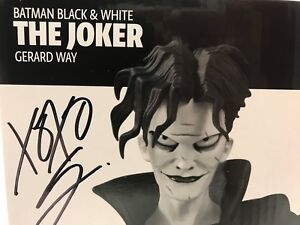 Batman Black & White The Joker Statue By Gerard Way SIGNED at NC Comicon 2018