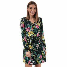 Womens Vero Moda Vita Wrap Dress In Navy- Wrap Style Dress- Floral Detail