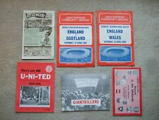 man utd theres only one u-ni-ted 18 page supp club brochure vol 7 no 3 c1975