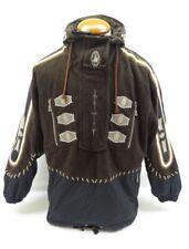 Bogner Brown Black Fleece Nylon Pullover Half Zip Ski Jacket Sz S