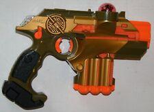 Gold Lazer Tag Phoenix LTX Laser Blaster Pistol Tiger Electronics Gun Works