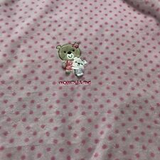 Carters Just One You Mommy And Me Pink Polka Dot Baby Blanket J4221