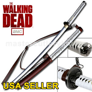 The Walking Dead Samurai Sword-Michonne's Katana Zombie Killer Hand Forged Full