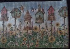 "Wallpaper Waverly Borders 5503932 Birds Birdhouses Sunflowers Floral 27"" Wide"