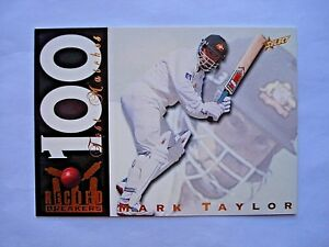 1998 SELECT CRICKET *RECORD BREAKERS* RETAIL CHASE RB5 MARK TAYLOR