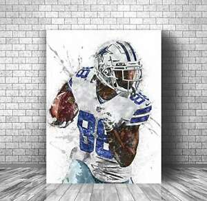 CeeDee Lamb Poster, Dallas Cowboys -   Print, Sports Art Print, Football Poster,