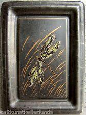 ✿ attraktives bild kachel kunsthandwerk keramik mit libelle dragonfly 18x13x2