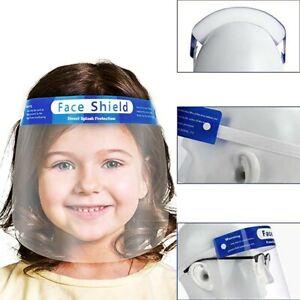 New Kids Face Shield Clear Anti-fog Splatter Full Cover Visor Protector 10 pcs