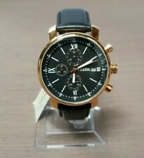 Fossil Rhett Chronograph Black Leather Watch BQ1008