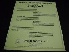 LEIBER & STOLLER 1996 Promo Ad BEATLES Alan Jackson ERIC CLAPTON DC Talk