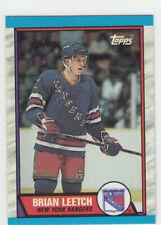 1989/90 Topps 136 Brian Leetch Rookie New York Rangers RC HOF