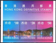 Hong Kong blok 47 skyline Hong Kong by night Postfris cat waarde € 30