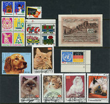 CAT STAMPS + CHRISTMAS SEALS + NOTGELD + GERMANY UN ISSUE