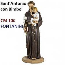 Statua religiosa FONTANINI sant'antonio di padova con bimbo cm 100 in resina