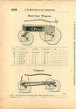1915 AD Pioneer Steel Gear Coater Wagon Syracuse Hand Cart Delivery Wagon