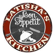 CPBK-0715 LATISHA'S KITCHEN Bon Appetit Chic Tin Sign Decor Gift Ideas