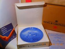 Bing & Grondahl Mother'S Day Plate - Bears From 1985 - New In Box With Certific