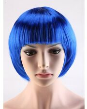 POP Style Bob Wig Women Short Straight Bangs Hair Wigs Cosplay Party Black Pink