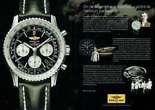 Publicité Advertising 049  2011   montre Bretling chrono Navitimer (2 pages)