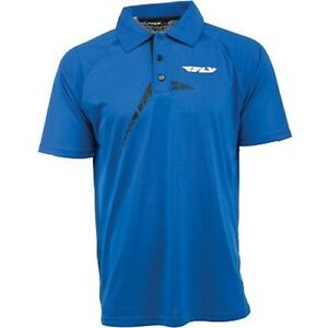 NOS FLY RACING 352-6141S POLO RACING SHIRT BLUE SIZE MENS SM