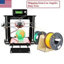 No Tax in US Geeetech Reprap Acrylic 3D printer Prusa i3 Pro C Dual MK8 Extruder