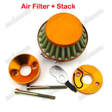 Gold Air Filter Carb Adapter Stack For 47cc 49cc Mini ATV Dirt Pocket Bike Goped