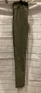 Ivivva Girls Size 8 Leggings Army Green With Pockets