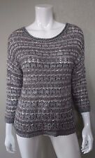 LUCKY BRAND Silver Metallic Cocktail Party Sweater - Size XL